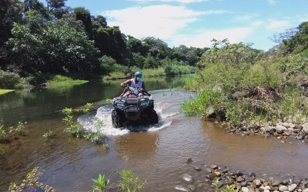 River floating, atv and zip-line combo tour